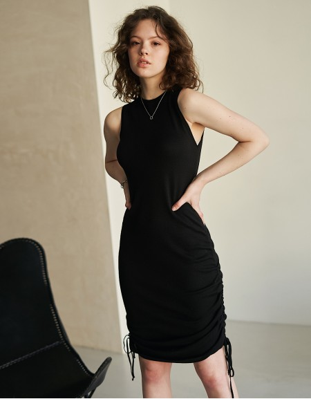 Knitted dress Black