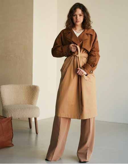 Brown/Camel Trench Сoat