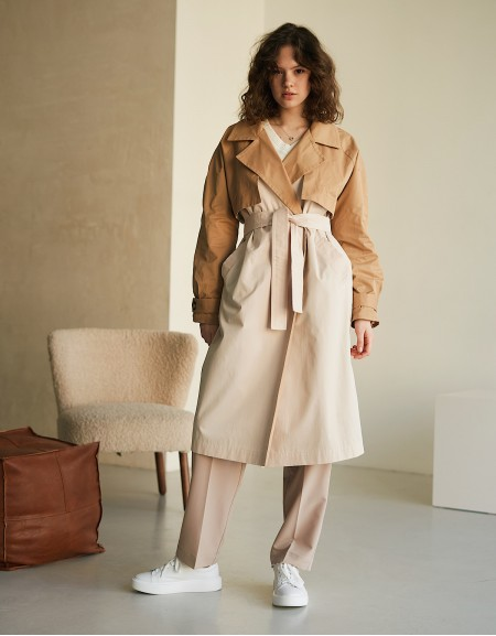 Camel/Cream Trench Сoat