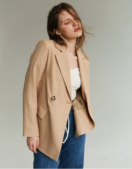 Jacket asymmetric Sand