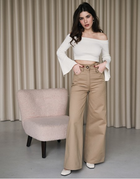 Middle Sand Flare Jeans