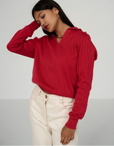 Polo-sweater Red Sky